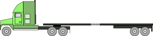 flatbed 5 axle stretch