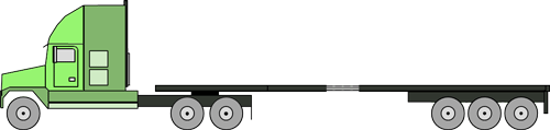 flatbed 6 axle stretch