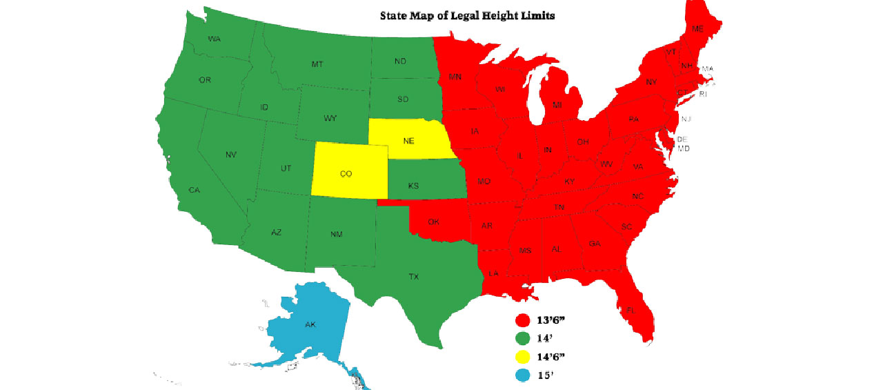 Trucking Legal Height Limits Map Heavy Haul Trucking